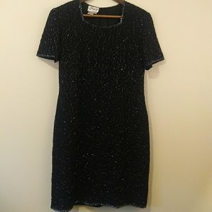 Vintage Black sequins dress petite medium